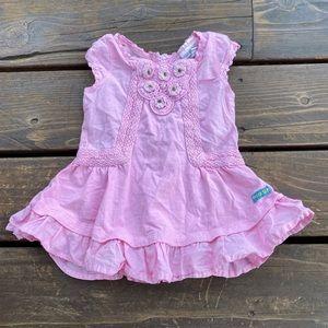 Naartjie pink cotton ruffle frills dress